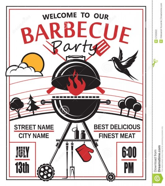 Grill Card X Inspirational Bbq Party Invitation