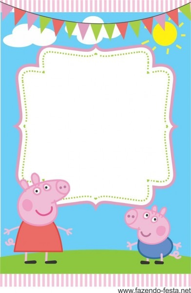 Personalised Birthday Invitations George Cute George Pig Party