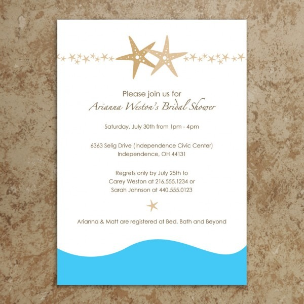 27 Images Of Beach Theme Wedding Invitation Template