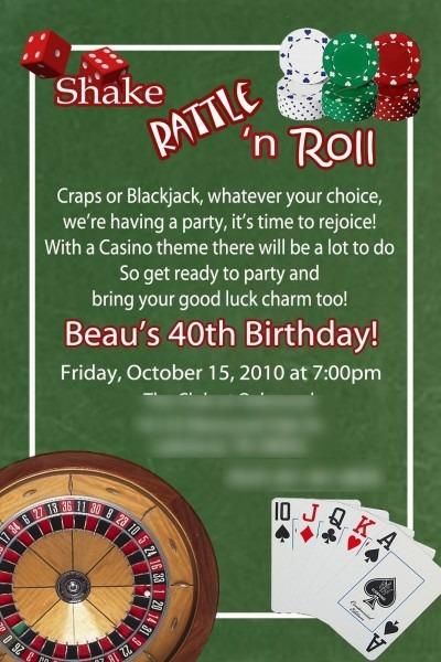 Greygrey Designs  {my Parties} Casino 40th Birthday Party!