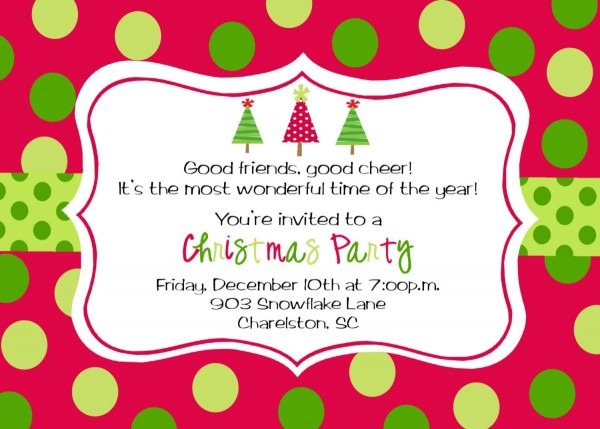 Best Free Christmas Party Invite Templates Printable For Your