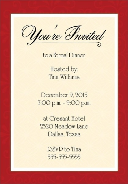 How To Write Dinner Invitation