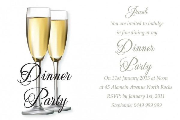 Birthday Dinner Invitation Template