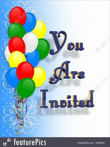 Illustration Of Birthday Invitation Balloons Border
