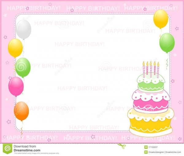 Birthday Invitation Card Stock Vector  Illustration Of Girl