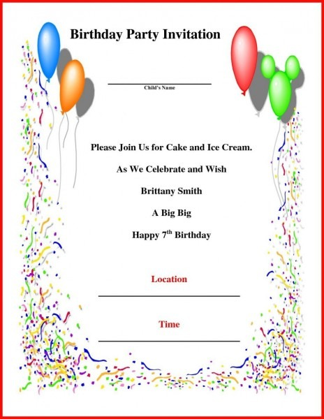 Birthday Invitation Format Letter In Hindi For Boy Template Baby