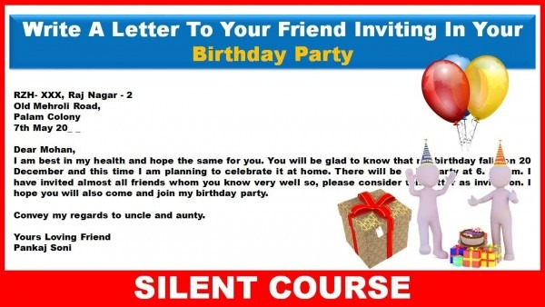 Birthday Invitation Letter In English From I And Get Ideas To