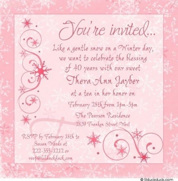 Birthday Invite Message For Baby Girl With Text Plus 1st