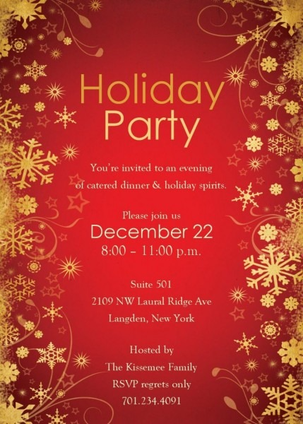 Birthday Invite Template Word Christmas Party Invitations