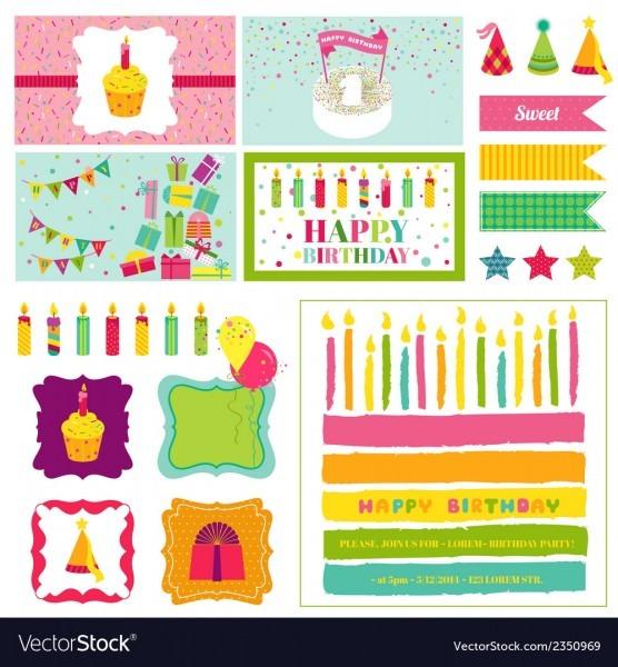 Birthday Party Invitation Set