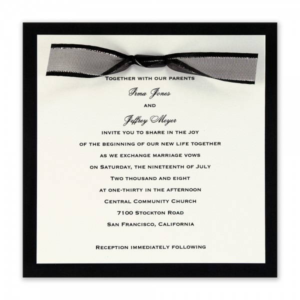 Black Tie Party Invitation Wording