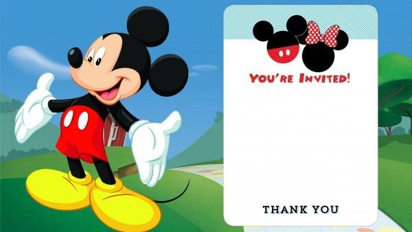 Printable Mickey Mouse Birthday Invitations