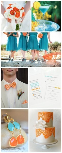 Blue And Orange Wedding Inspiration – Wedding Invitations