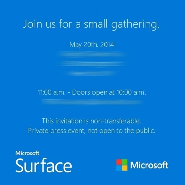 Microsoft Sending Out Invitations To A  Small  Surface Gathering