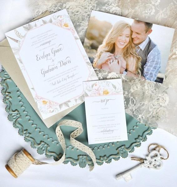 Boho Flower Wedding Invitation