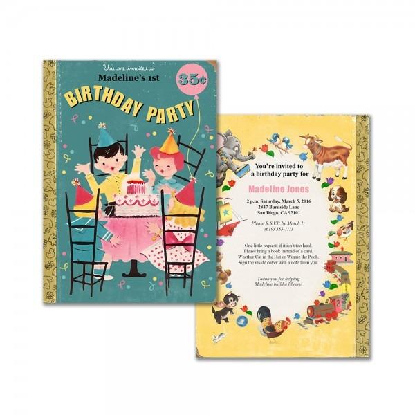 Book Theme Birthday Invitation P Marvelous Printable Children's