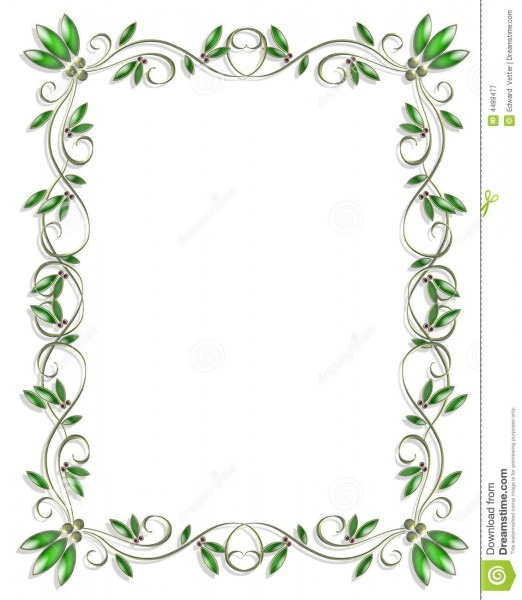 Border Design Element Green 3 Stock Illustration