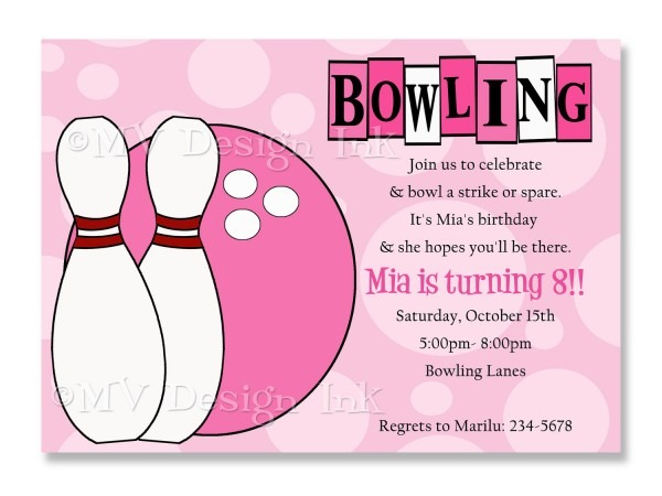 Bowling Party Invitations Template Great Free Printable Bowling