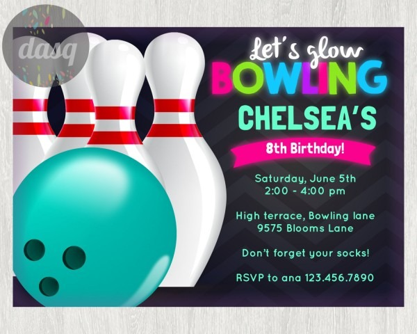 Invitation Ideas  Bowling Party Invitations