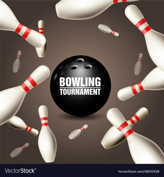 Bowling Tournament Invitation Card
