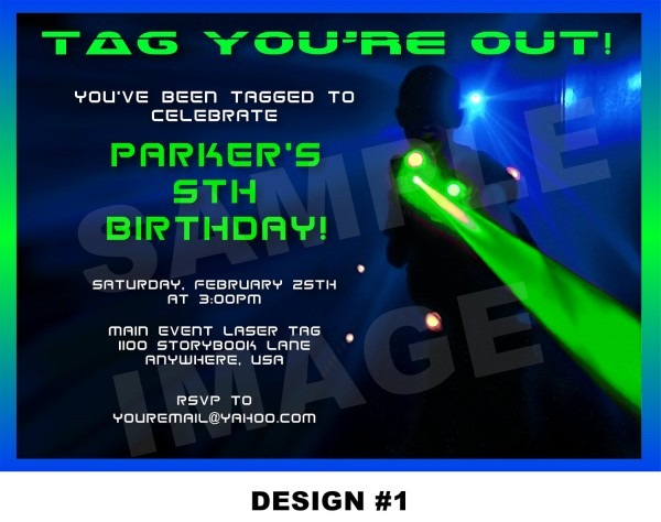 Breathtaking Laser Tag Birthday Invitations Which Can Be Used As