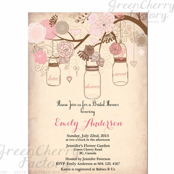 Bridal Shower Invitation Templates By Means Of Creating Gorgeous