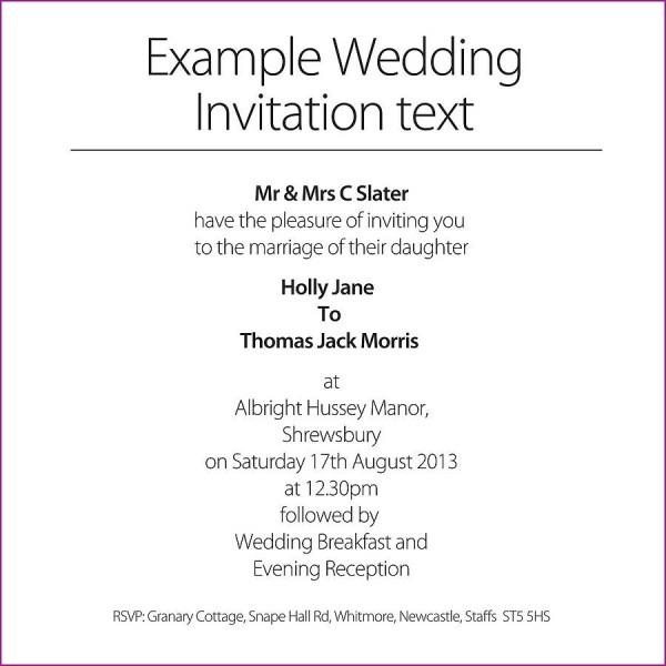 Brilliant Wedding Invitations Examples Wedding Invitations