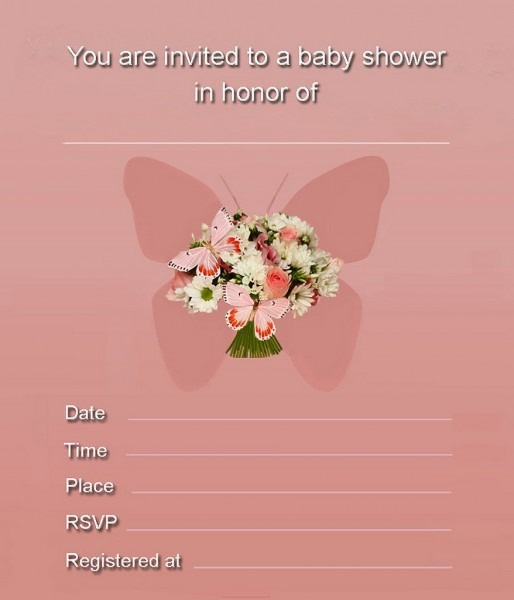 Butterfly Baby Shower Invitations Printable Free – Baby Shower Ideas