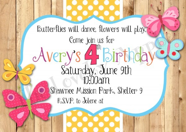 Butterfly Invitation Template Popular Spring Party Invitation