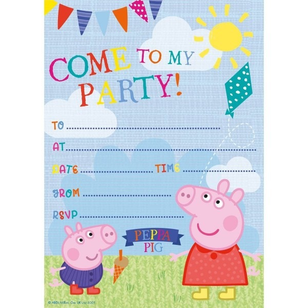 Party Invitations, Marvellous Peppa Pig Party Invitations As