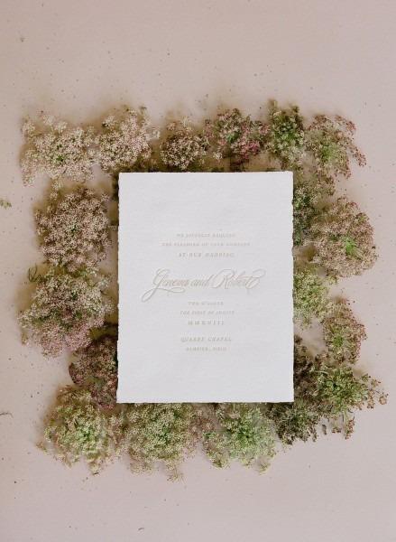 Organic Torn Edge Wedding Invite Set Cheer Up Wedding Invitation