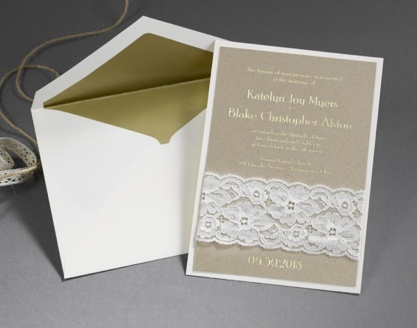 Unique Wedding Invitations With Unconventional Materials