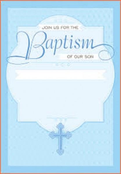 Catholic Baptism Invitations Boy