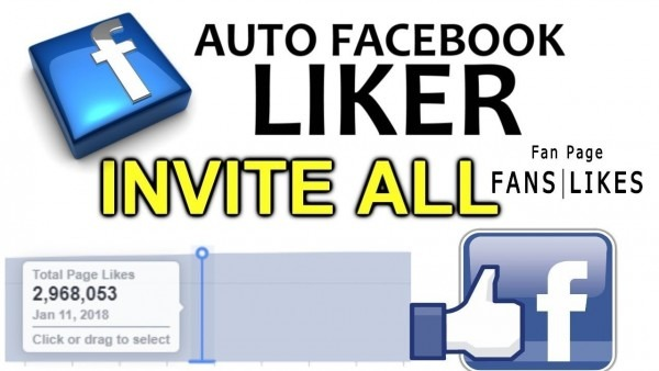 Facebook Fan Page Auto Liker All Invite All Facebook Friends List