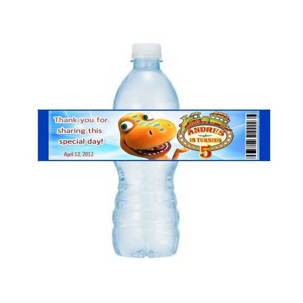 Dinosaur Train Personalized Birthday Party Water Bottle Labels