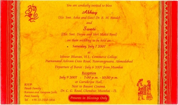 Invitations   Charming Wedding Invitation Wording Hindi The Best