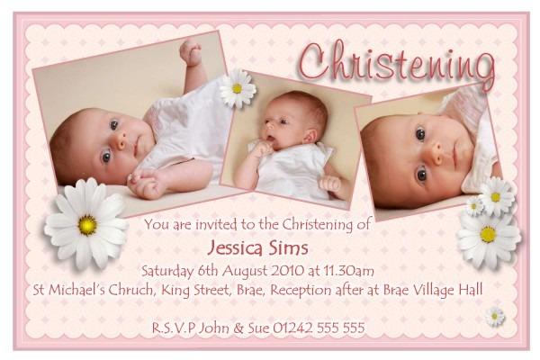 Christening Invitation Card Template Blank Christening Invitation