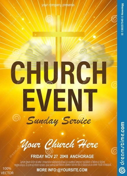 Christian Invitation Poster Template  Religious Flyer Card For