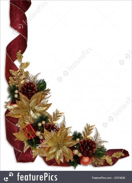 Christmas Border Ribbons Stock Illustration Fancy Design Free