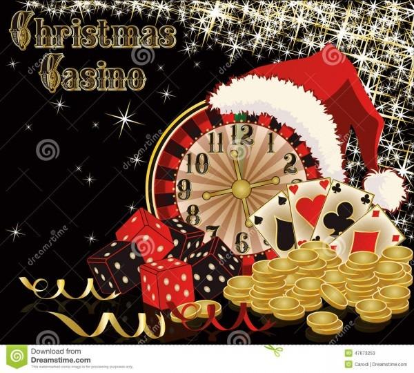 Christmas Casino Background Stock Vector