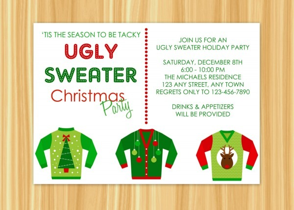 Christmas Party Invitation Poem Superb Ugly Sweater Party