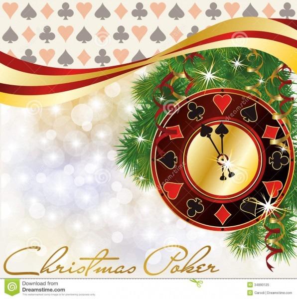 Christmas Poker Invitation Card Stock Vector