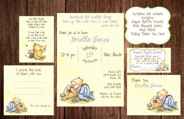 Classic Pooh Invitations Baby Shower Trend Of Classic Winnie The