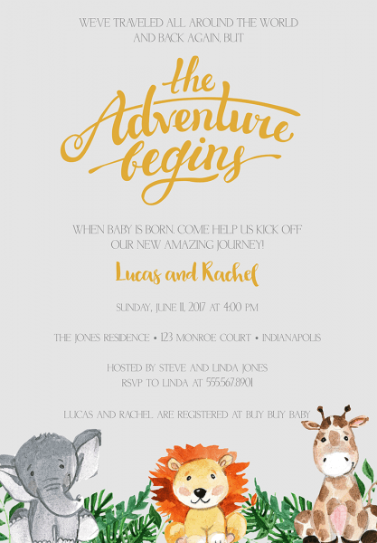 Coed Baby Shower Invitation Wording Free Templates With Tea Party