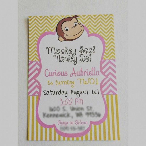 Beautiful Curious George Baby Shower Invitations Curious George