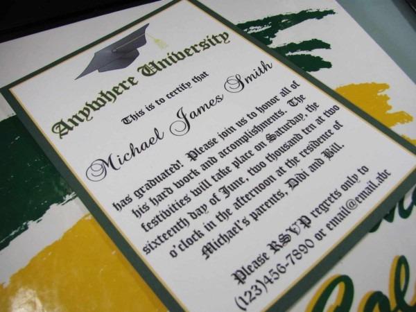 College Graduation Invitation Wording Ideas