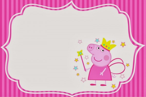 Convite Best Peppa Pig Birthday Invitations Free Downloads