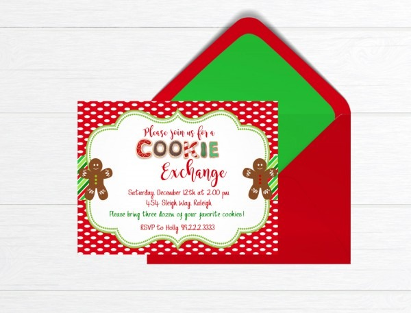 Cookie Exchange Invitation, Cookie Party Invitation, Cookies