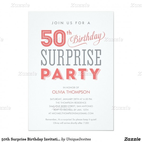 Cool Free Template Surprise Th Birthday Party Invitation Wording