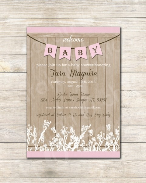 Amazing Country Baby Shower Invitation Western Idea Appealing